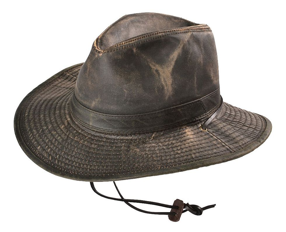 Weathered UPF50 Outback Hat, Brown, hi-res
