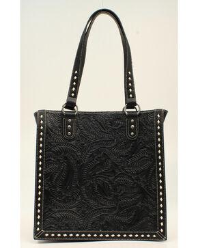 Blazin Roxx Floral Tooled Tote Bag, Black, hi-res