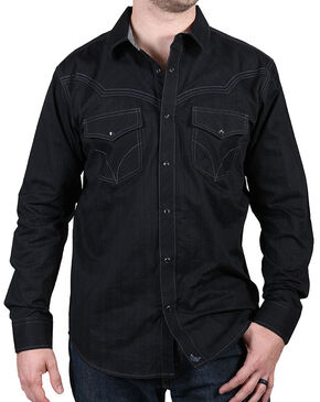 Cody James Men's Western Knight Long Sleeve Shirt, Black, hi-res