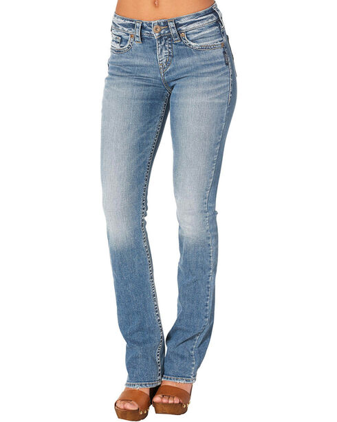 Silver Women's Avery Slim Boot Medium Wash Jeans, Indigo, hi-res