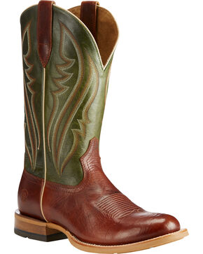 Ariat Men's Cognac Quickdraw Collection Leather Boots - Round Toe , Cognac, hi-res