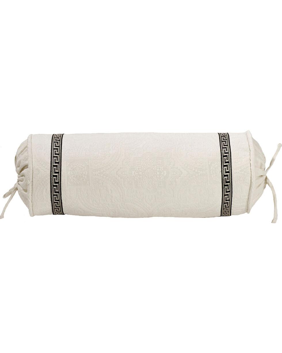HiEnd Accent White Augusta Matelasse Neckroll Pillow, White, hi-res
