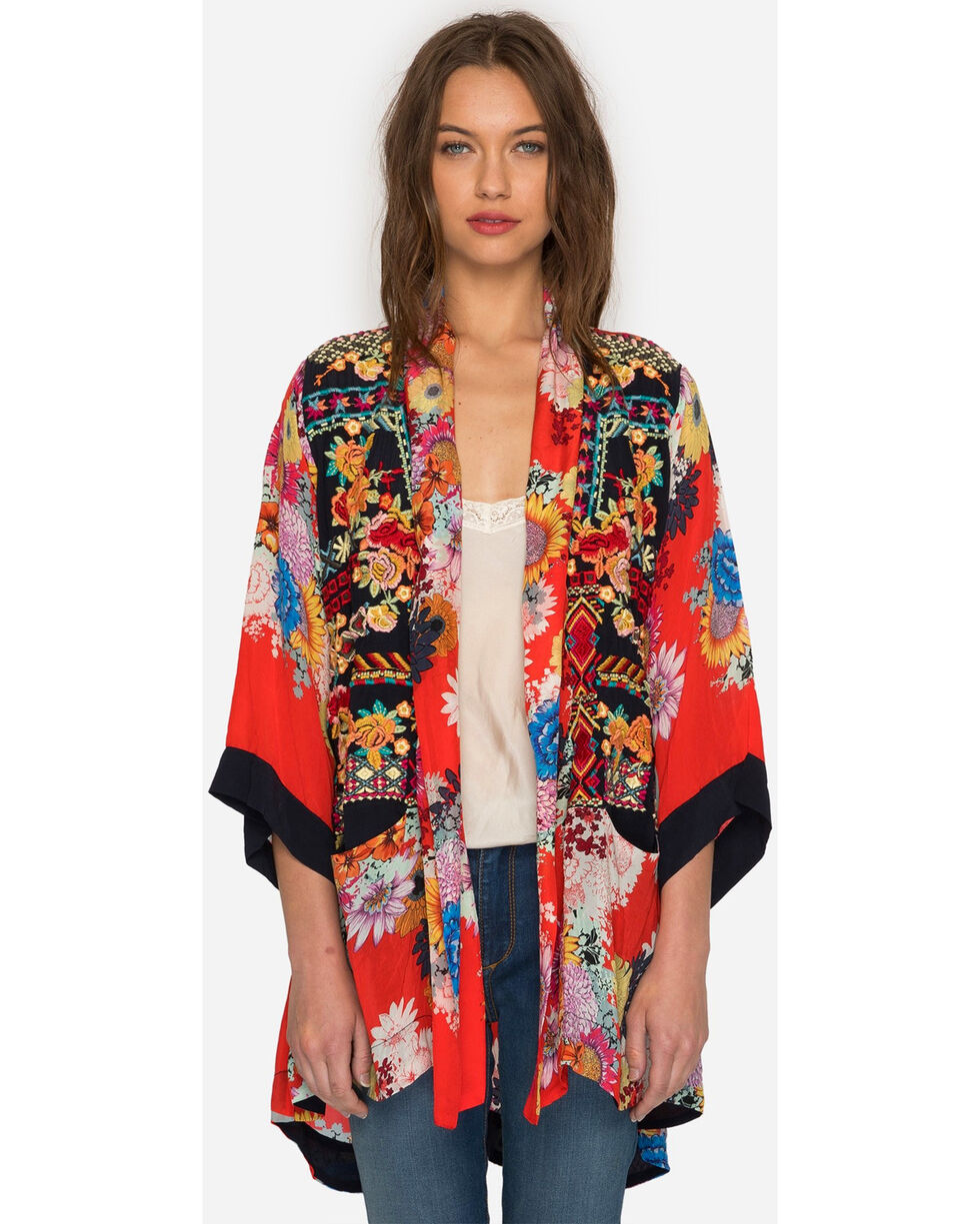 Johnny Was Women's Mishka Rose Embroidered Kimono , Multi, hi-res