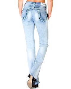 Grace in LA Women's Indigo Trimmet Pocket Jeans - Boot Cut , Indigo, hi-res