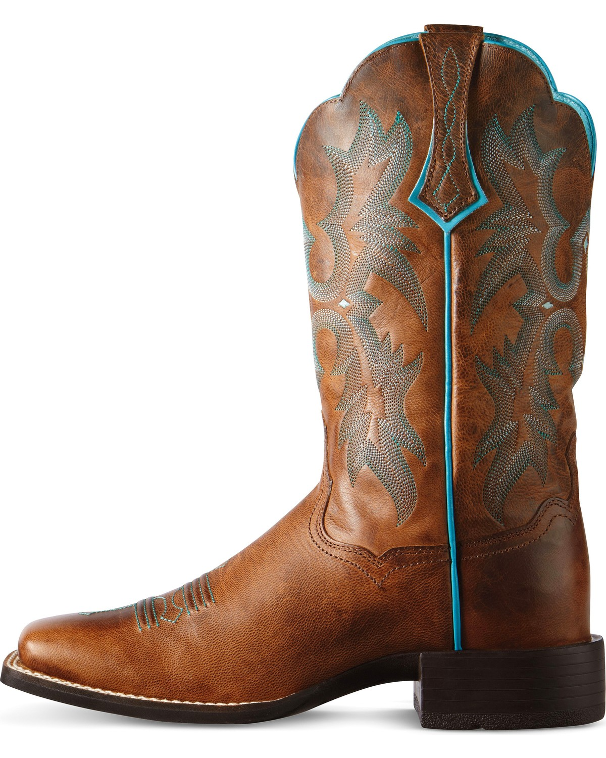 Ariat Brown Tombstone Boots - Wide Square Toe - Country Outfitter