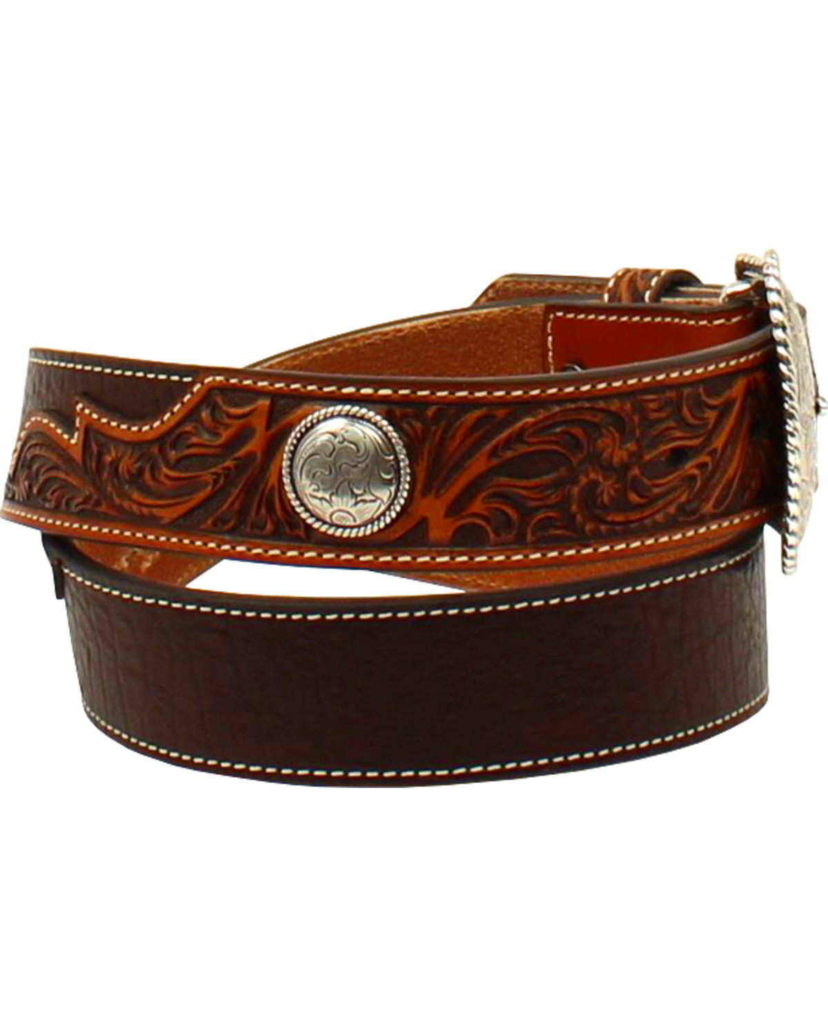 concho men The bcg™ men's concho belt is made of polyurethane for long-lasting use.