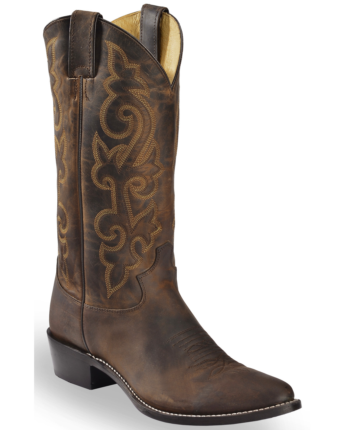 Justin Bay Apache Leather Cowboy Boots - Medium Toe - Country ...