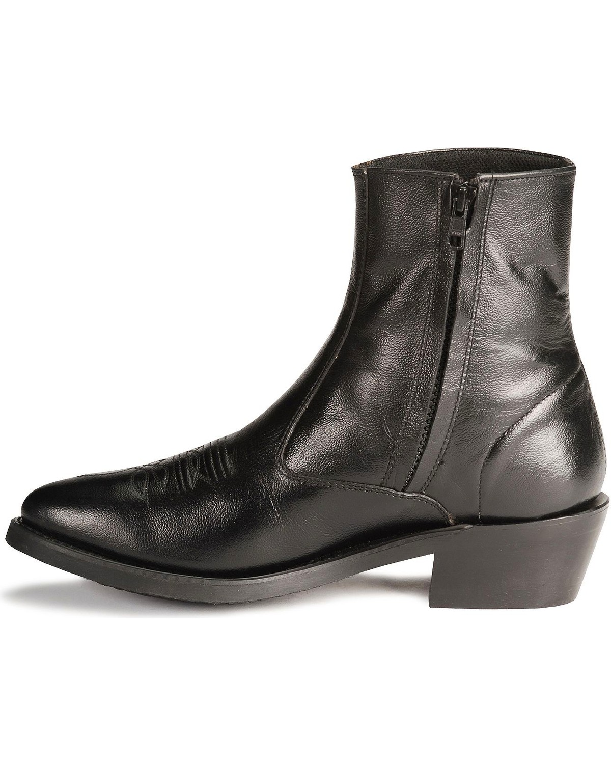Shop black back zip ankle boot at Neiman Marcus, where you will find free shipping on the latest in fashion from top designers.