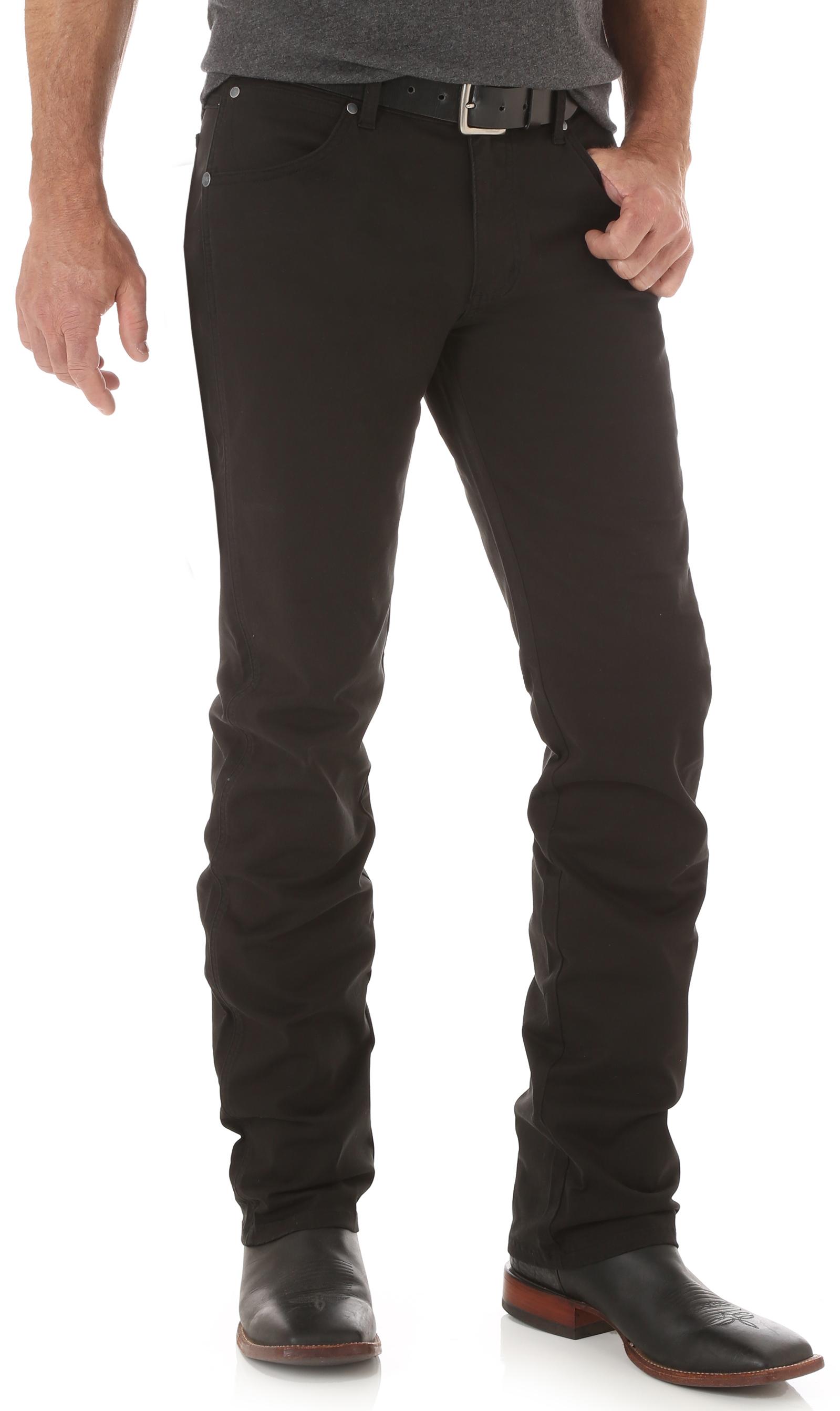 Wrangler Retro® Men's Black Slim Straight Jeans - Long - Country ...