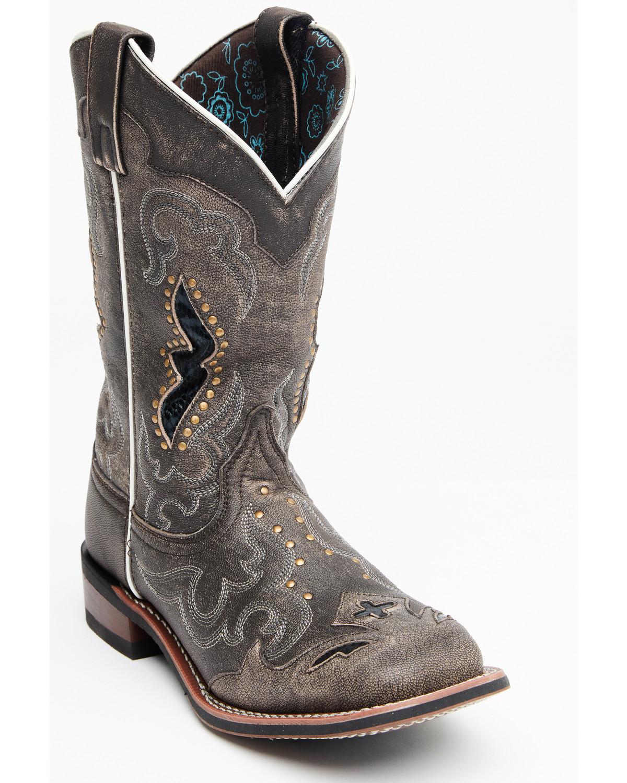 Larger values Men Laredo Paris Cowboy Boot Burgundy - G6F81D6051