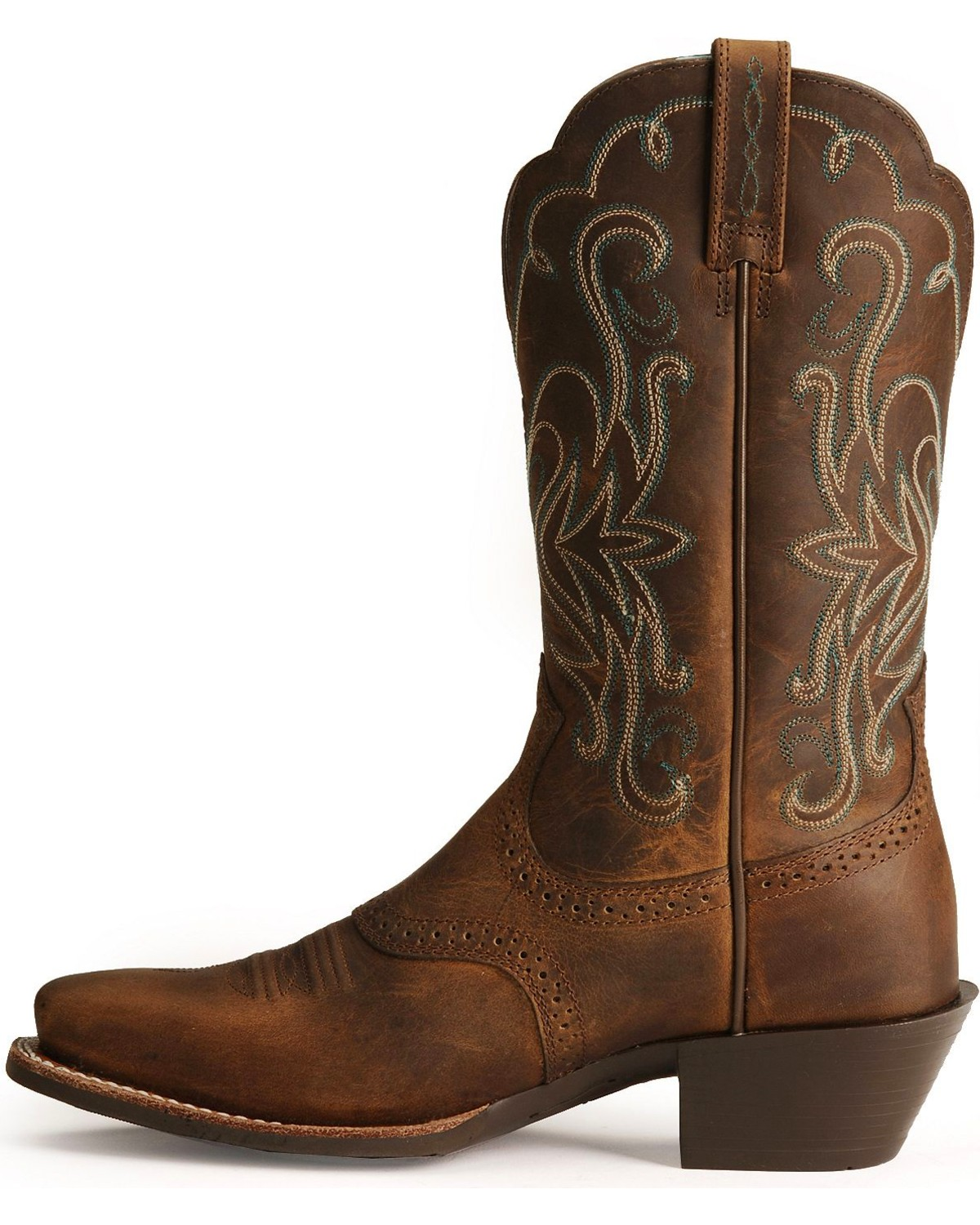 Ariat Saddle Vamp Legend Riding Cowgirl Boots - Square Toe ...
