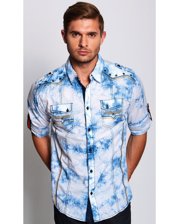 Austin Season Men's Long Sleeve Embroidered Button Down Shirt ...