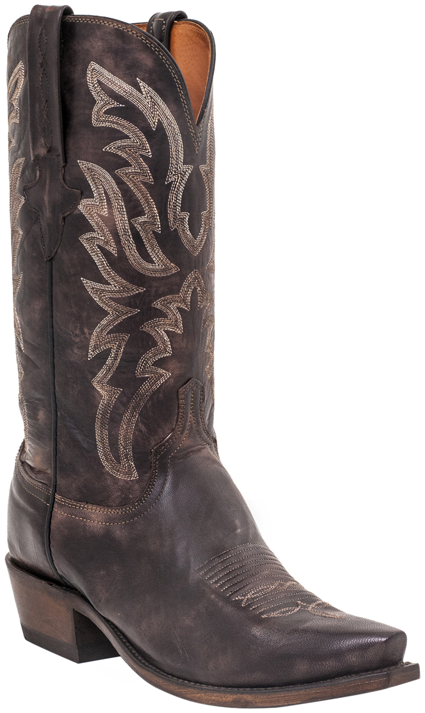 lucchese s milo western boots snip toe country