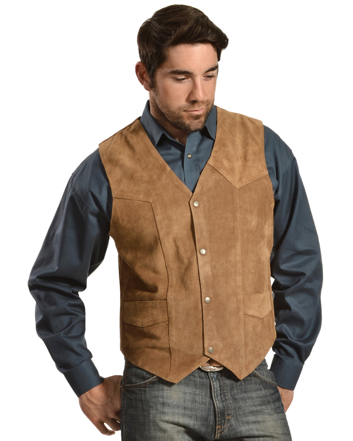 Liberty Wear Men S Suede Western Vest Country Outfitter