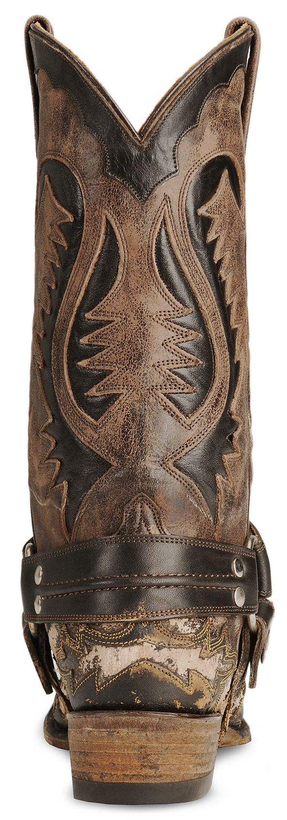 Stetson Brown Harness Cowboy Boots - Snip Toe - Country Outfitter