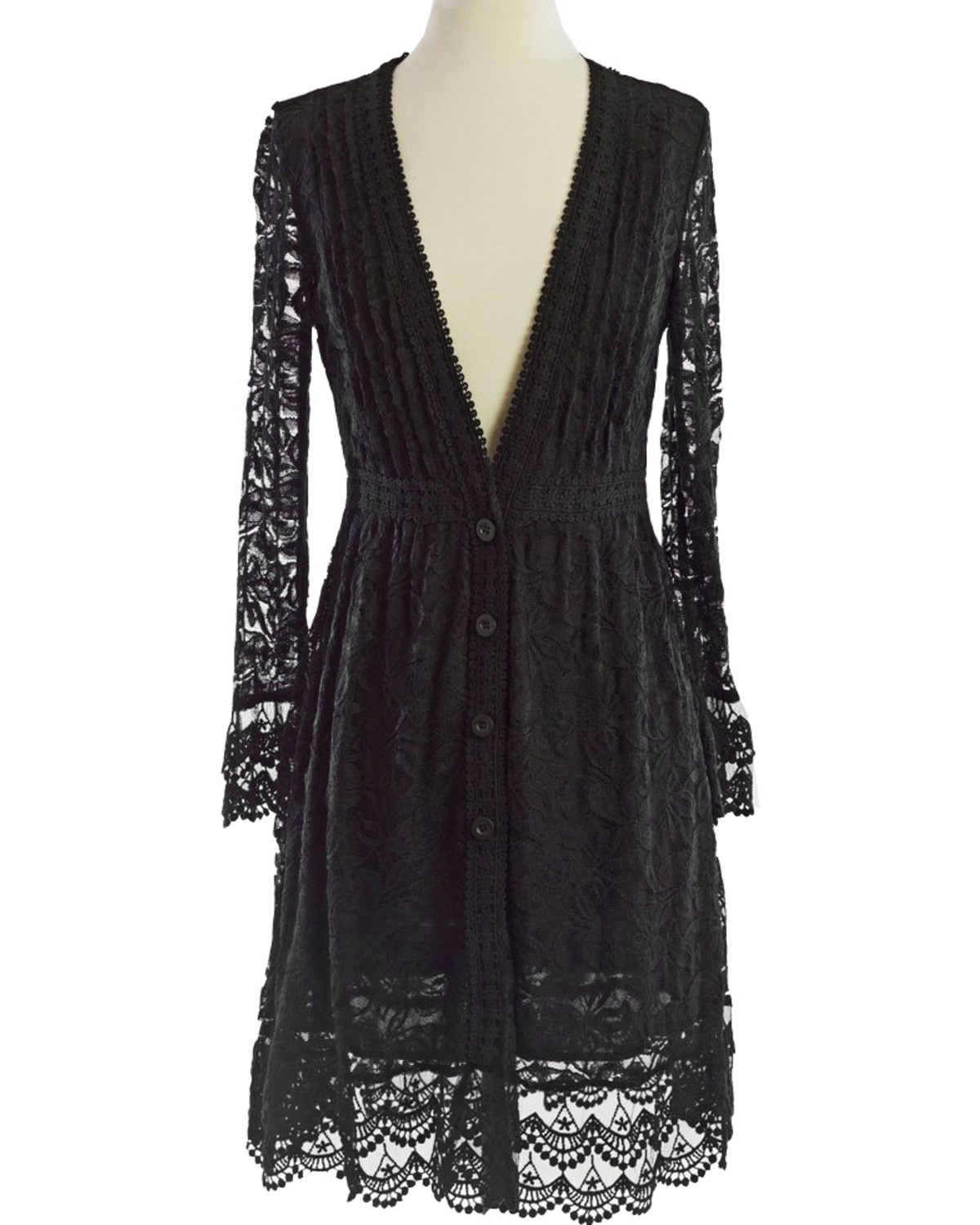 Young Essence Women's Long Lace Cardigan - Country Outfitter