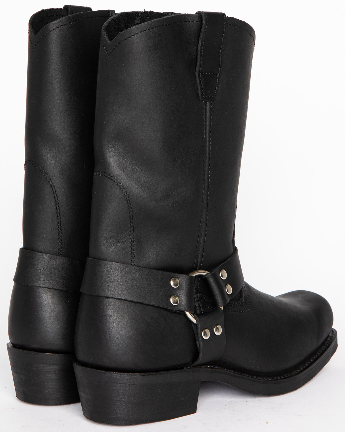 Cody James Men S Zipper Harness Motorcycle Boots Square