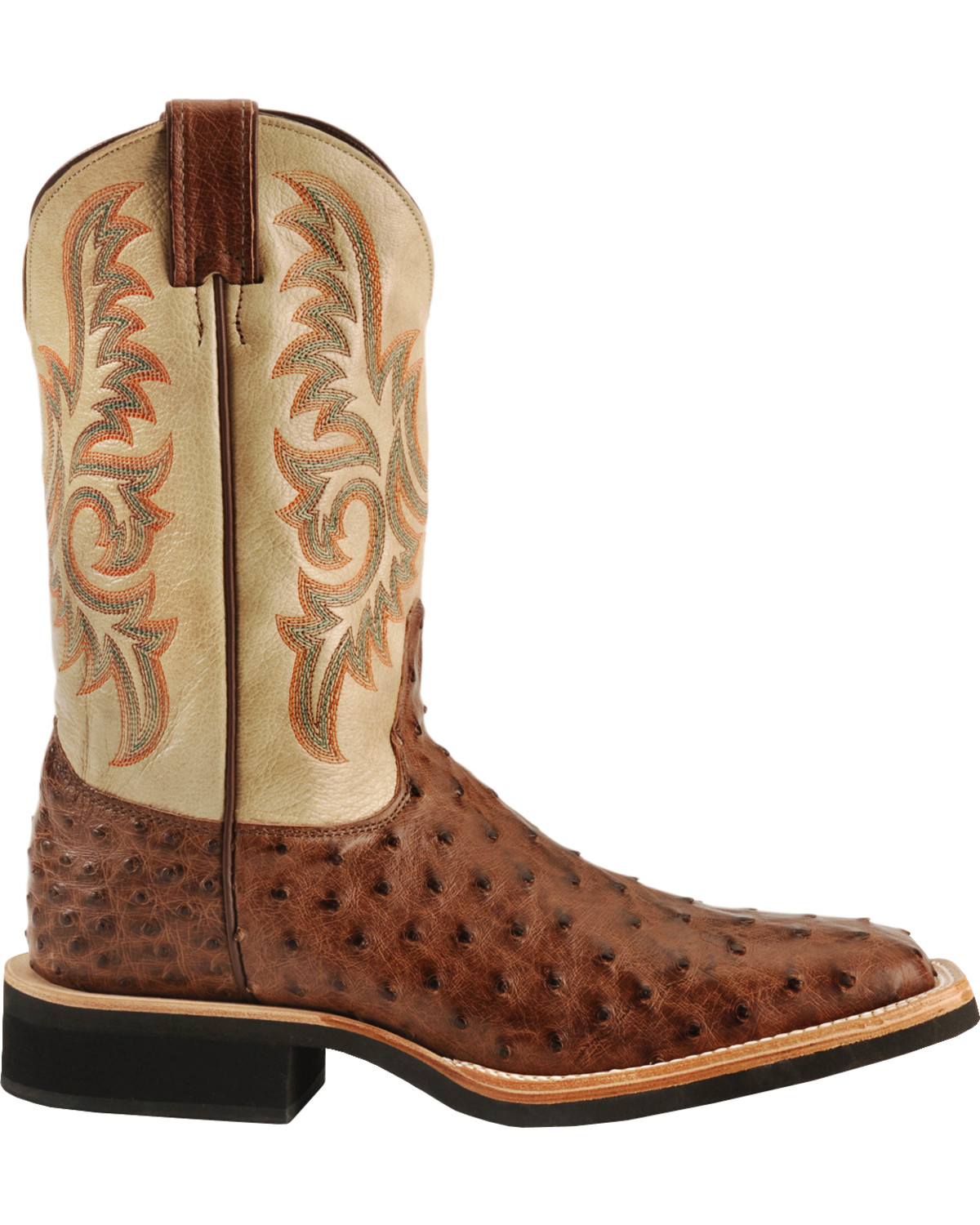 Justin Aqha Full Quill Ostrich Cowboy Boots Square Toe Country Outfitter