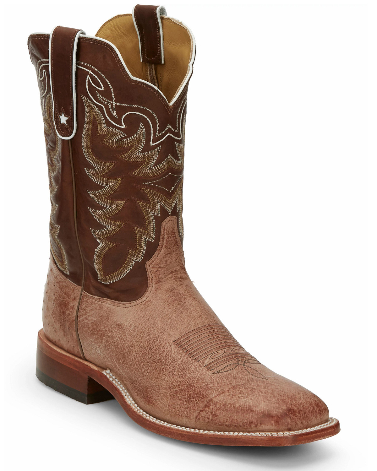 Tony Lama Thoroughbred Smooth Quill Ostrich Cowboy Boots