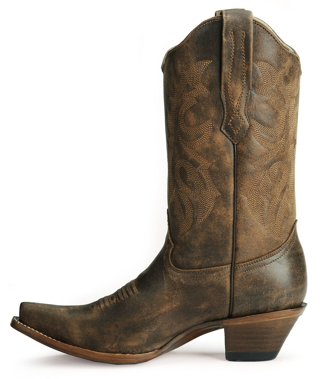 Corral Distressed Leather Western Cowgirl Boots - Snip Toe ...