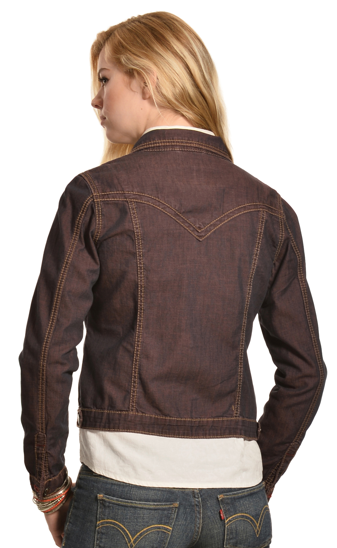 Jean Jacket With Leather Sleeves Men