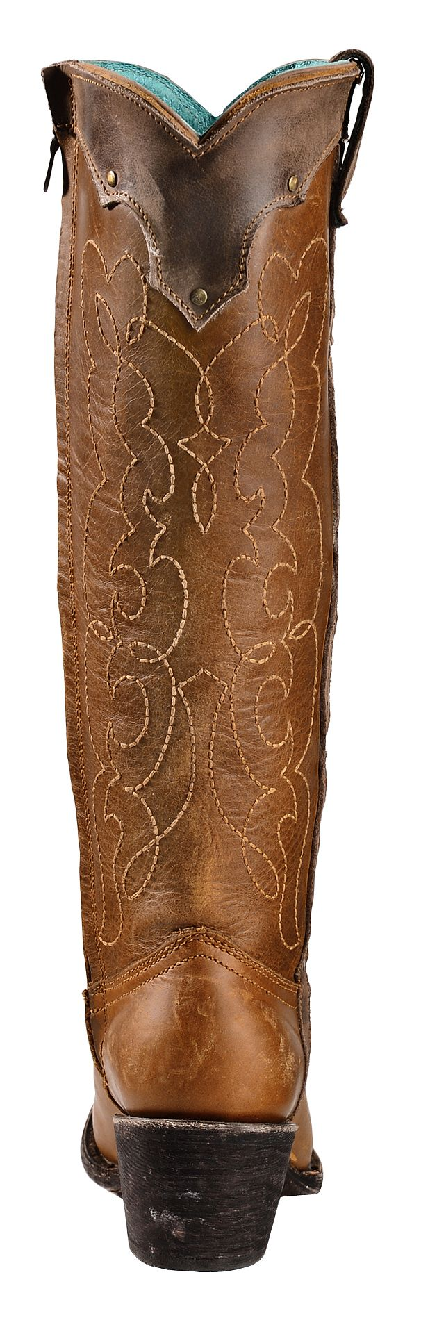 Corral Kats Natural Westport Cowgirl Boots - Round Toe - Country ...