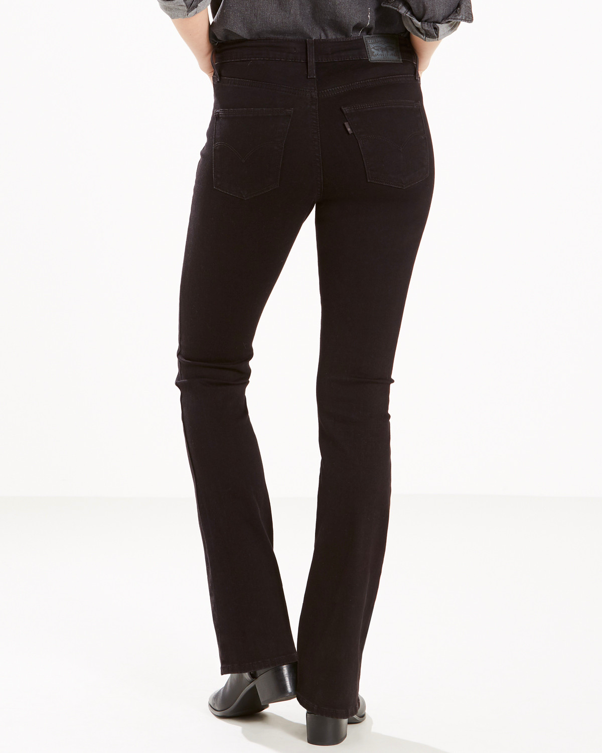 Leviu0026#39;s Womenu0026#39;s Black Slimming Mid-Rise Jeans - Boot Cut - Country Outfitter