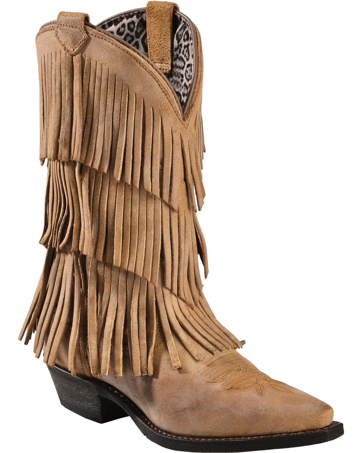 Dingo Tres Fringe Cowgirl Boots - Snip Toe - Country Outfitter