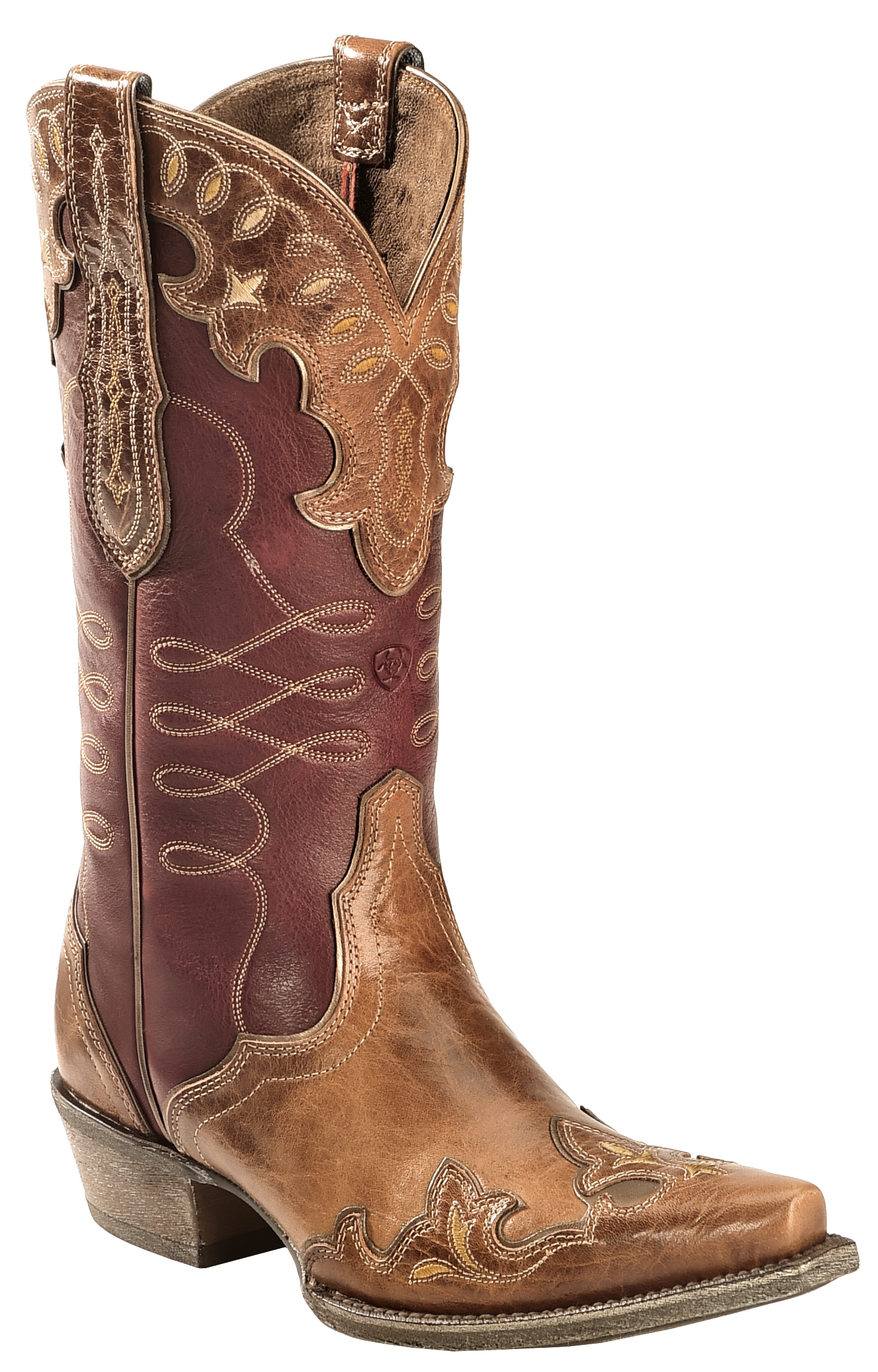 Ariat Brown Zealous Cowgirl Boots Snip Toe Country