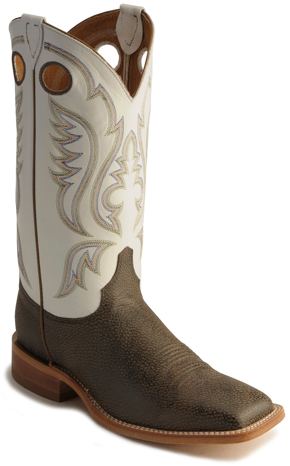 Awesome Justin Gypsy Square Toe Cowgirl Boots Pink Tan