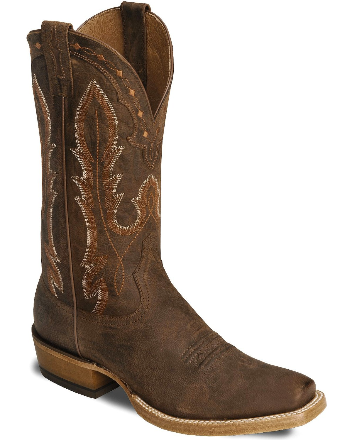 ariat brown hotwire cowboy boot square toe country