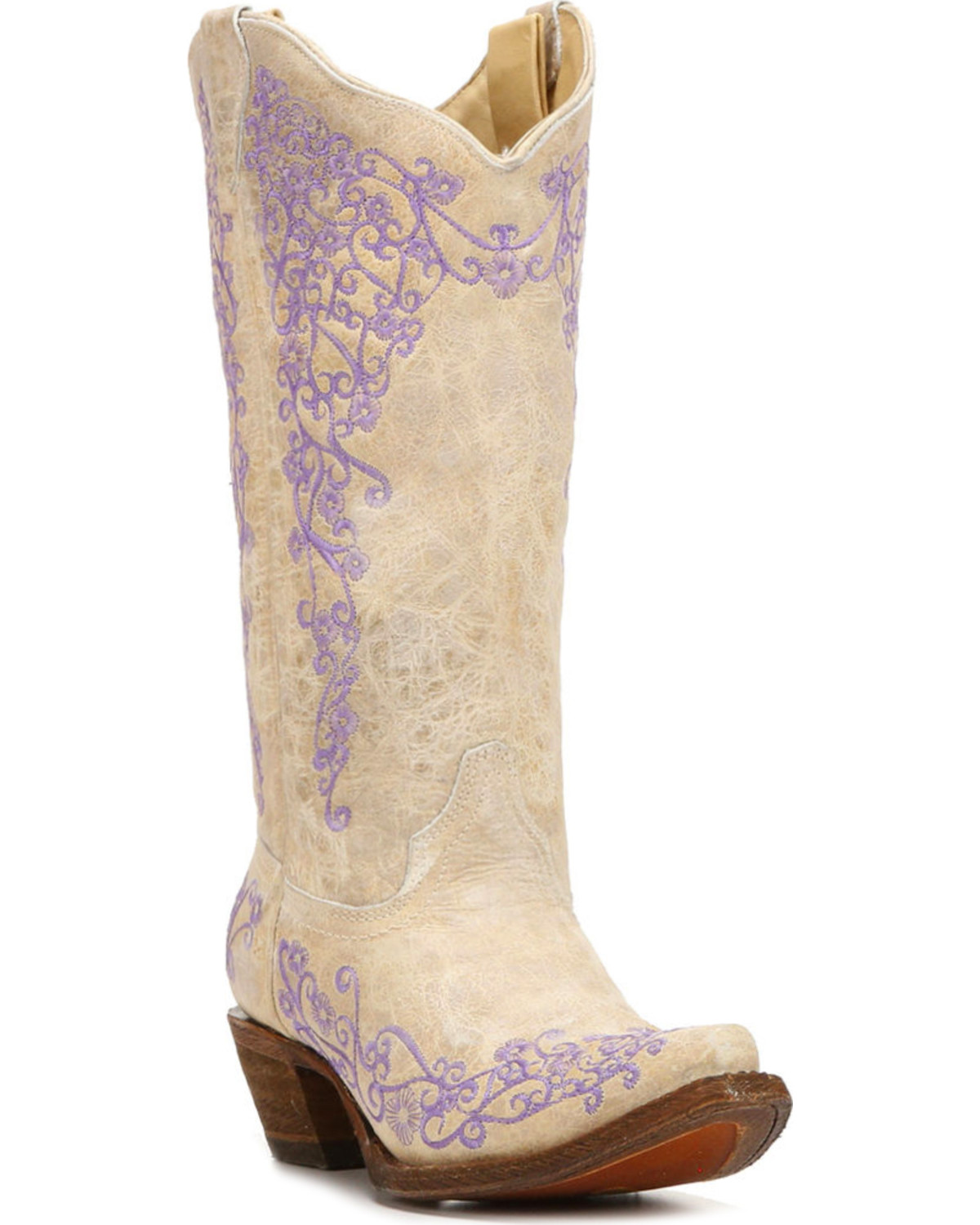 corral womens white cowhide cowgirl boots snip toe