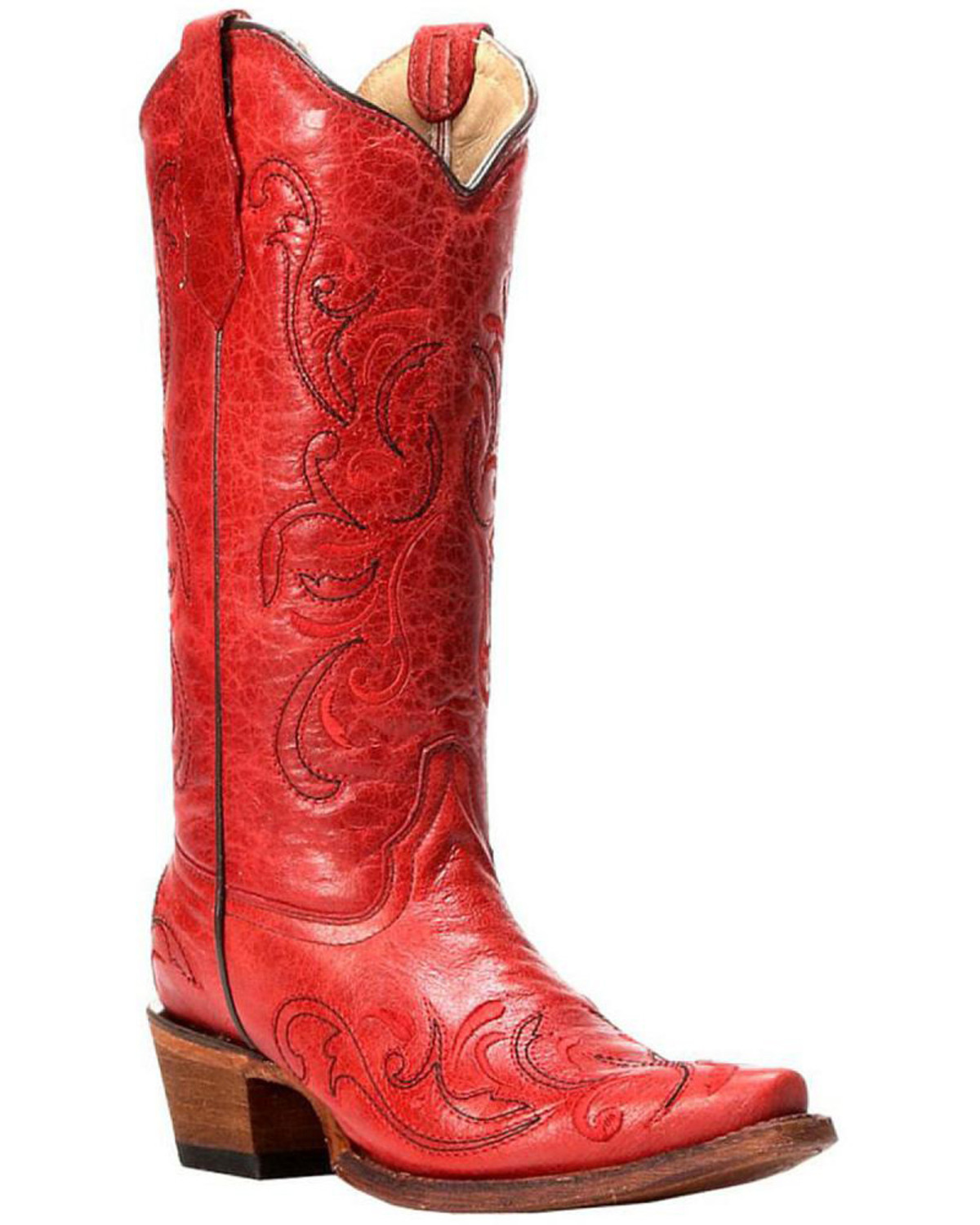 circle g leather boots snip toe country