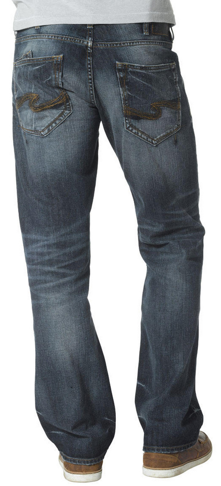 Silver Jeans Men's Zac Relaxed Fit Straight Leg Medium Wash Jeans ...