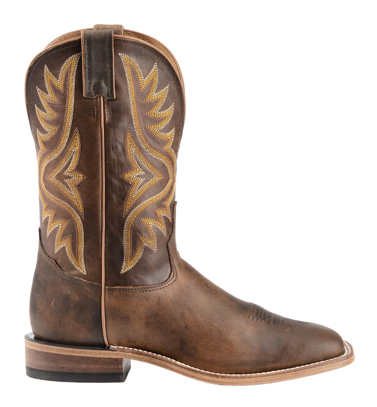 Tony Lama Tan Worn Goat Leather Americana Cowboy Boots