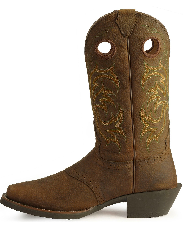 Justin Men S Punchy Stampede Cowboy Boots Square Toe