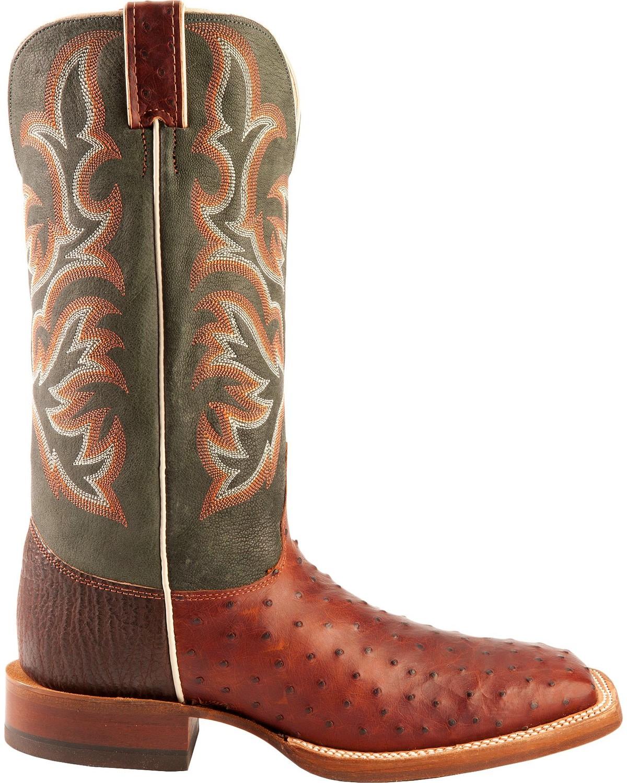 Justin Aqha Jurassic Full Quill Ostrich Cowboy Boots