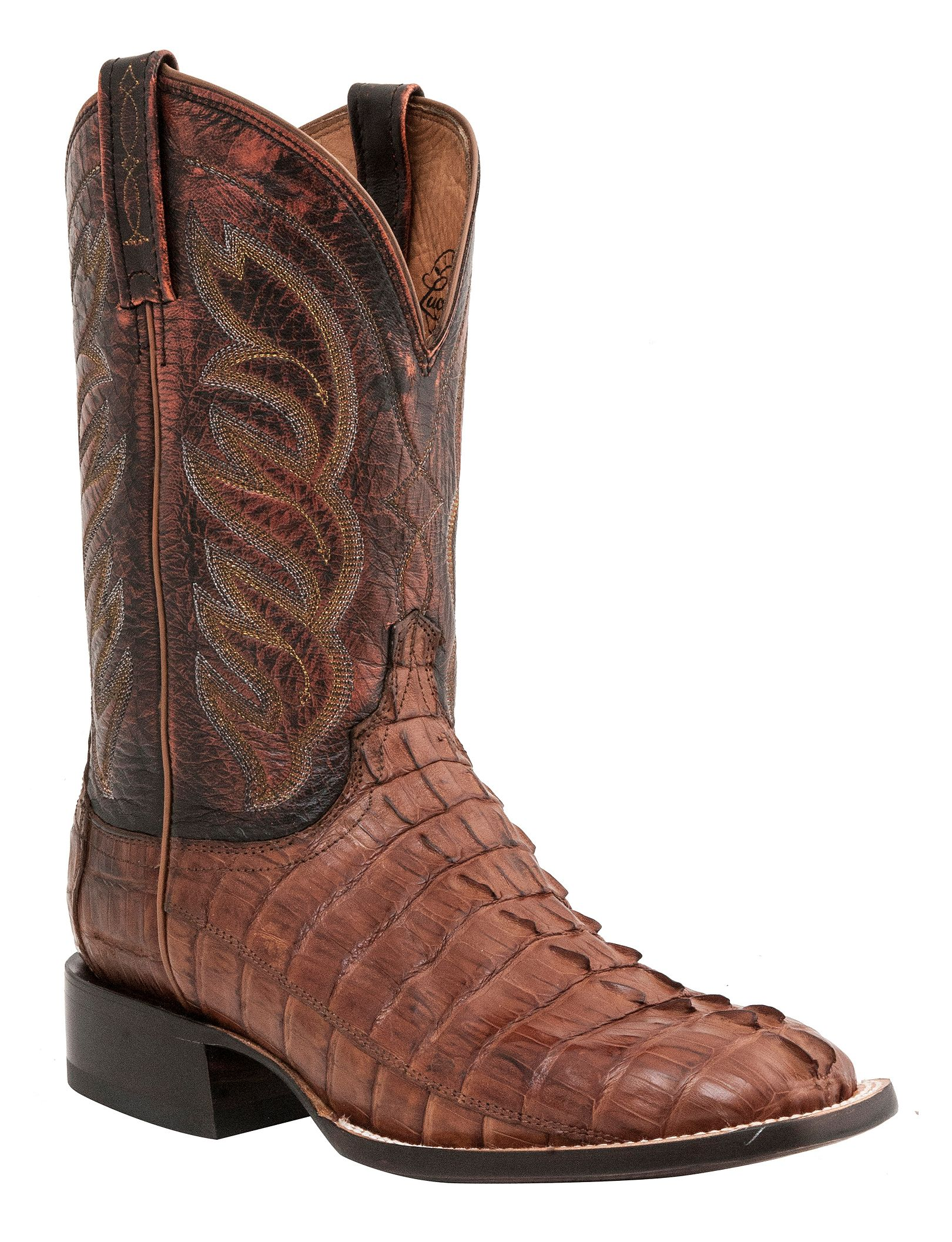 Lucchese 1883 Handmade Landon Hornback Caiman Tail Cowboy