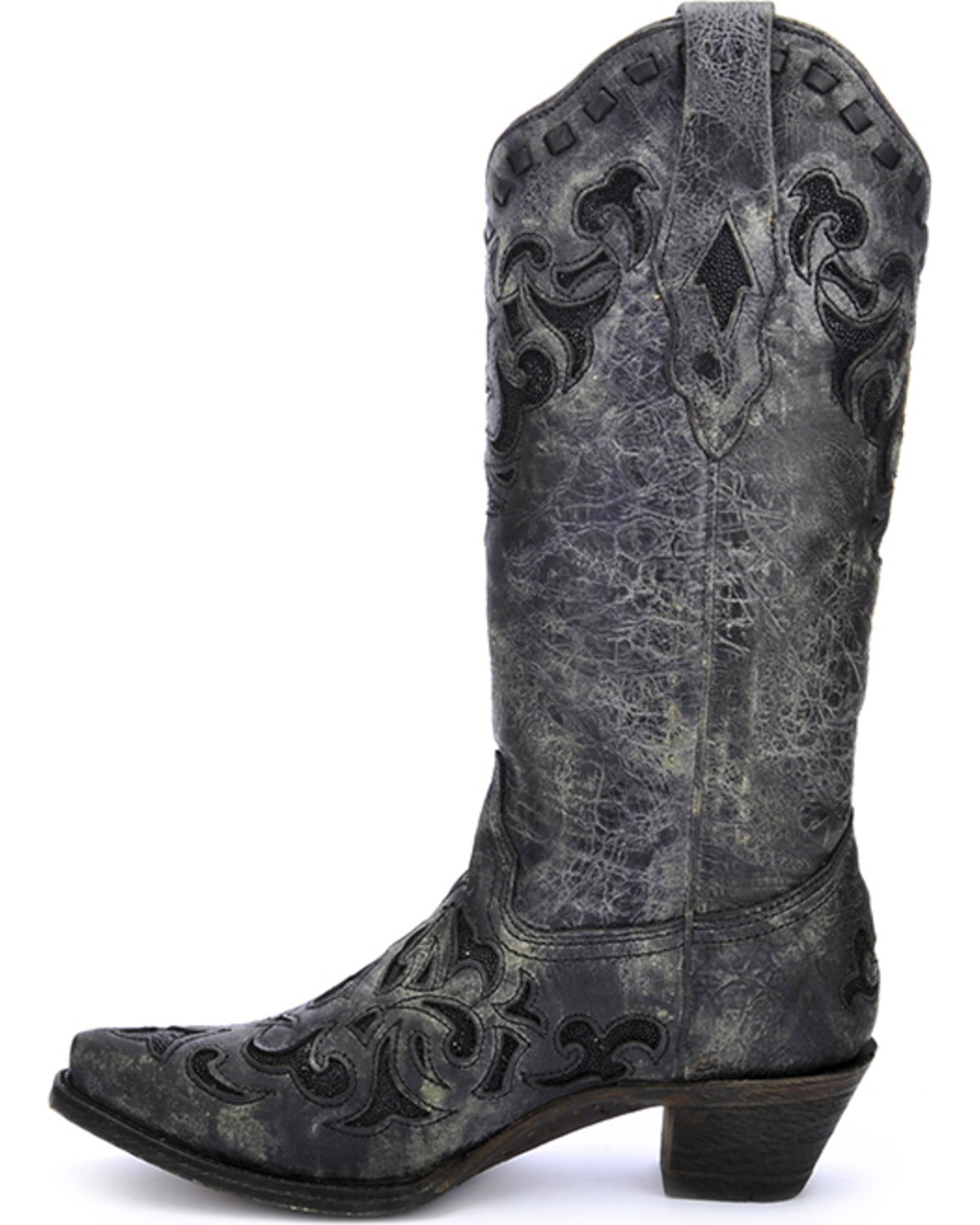 Corral Women's Stingray Inlay Cowgirl Boots - Snip Toe - Country ...