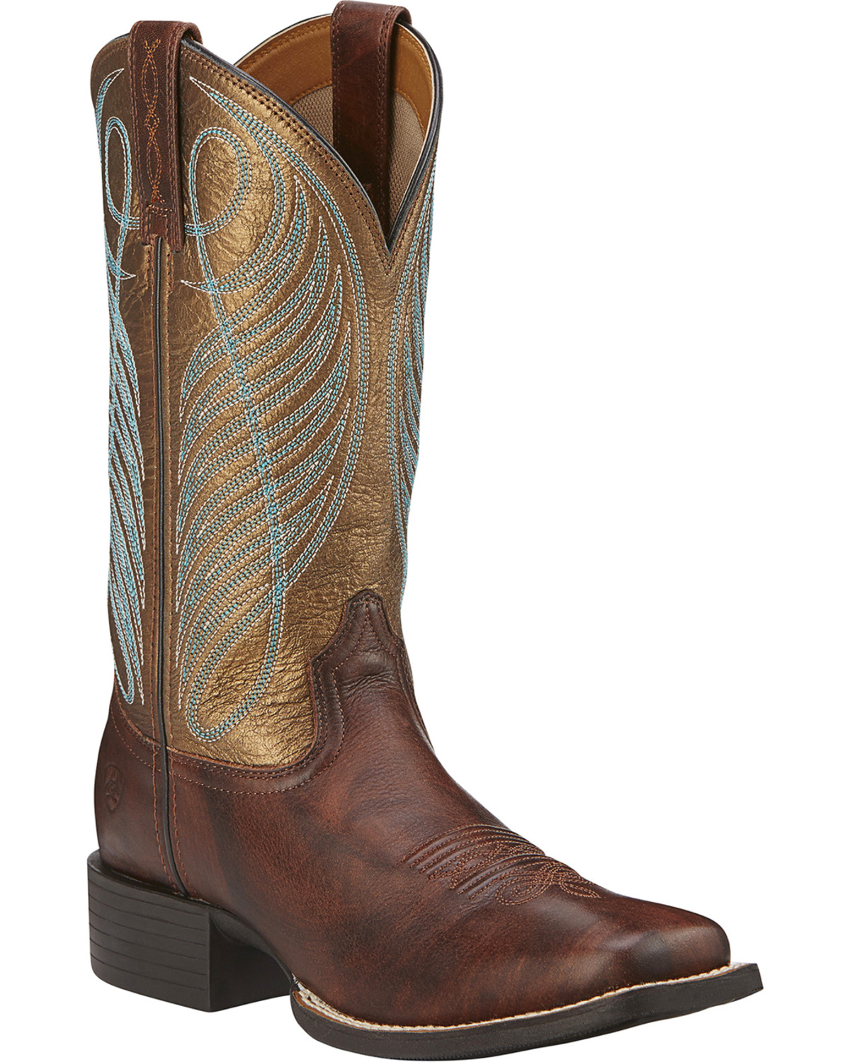Excellent Ariat Womenu0026#39;s Rich Round Up Remuda Cowgirl Boot Square Toe - 10019907 | EBay
