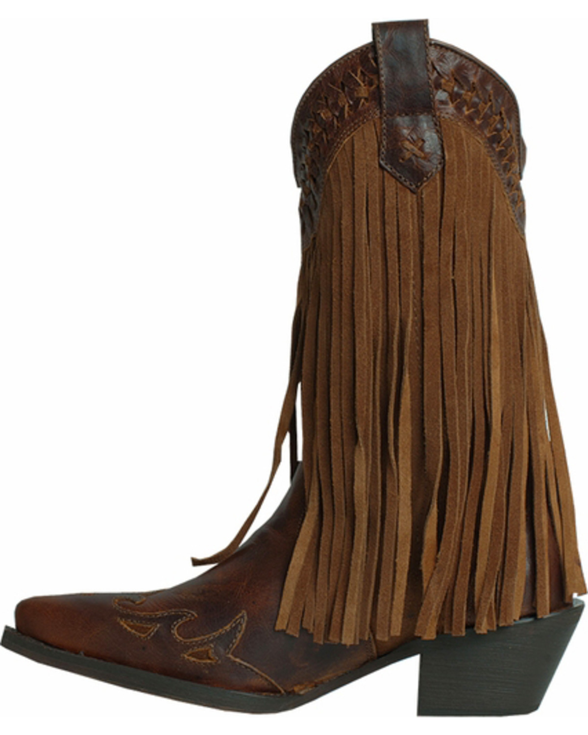 Dingo Heart Throb Fringe Cowgirl Boots - Snip Toe - Country Outfitter