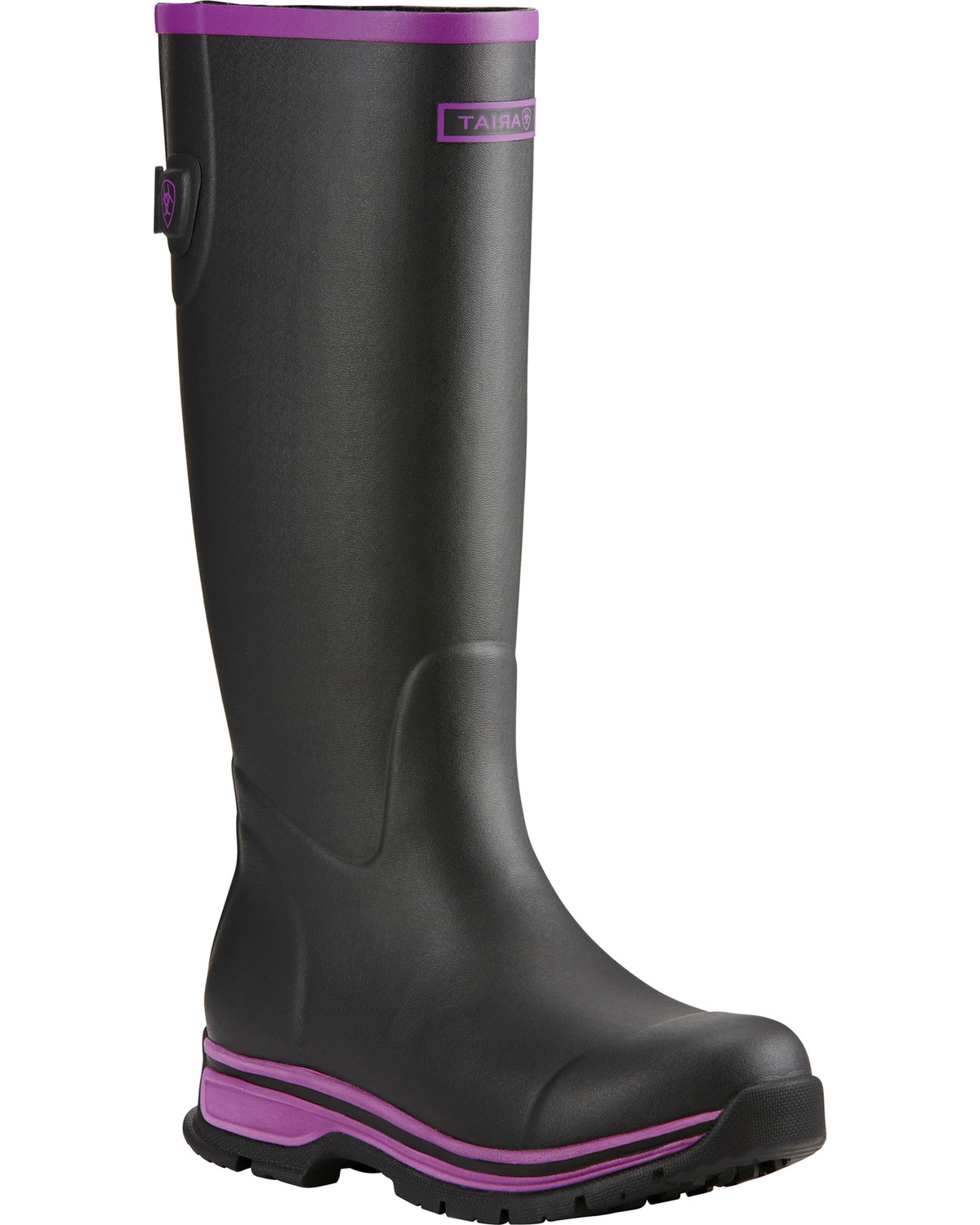 Ariat Women's Black Purple Fernlee Rubber Outdoor Boots - Country ...