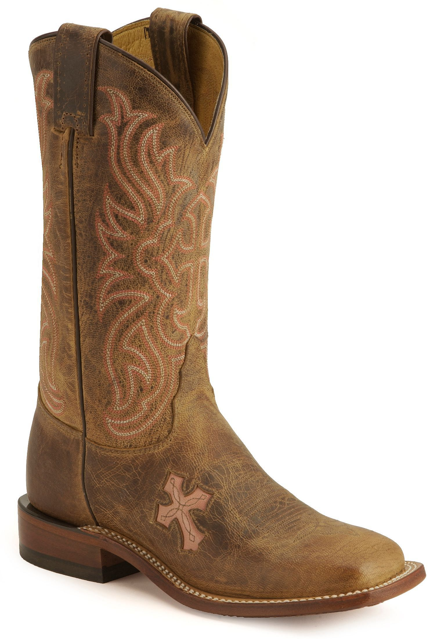Tony Lama Cross Inlay Cowgirl Boots - Square Toe - Country Outfitter