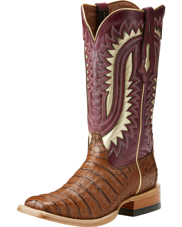 Ariat Women S Silverado Brown Caiman Cowgirl Boots