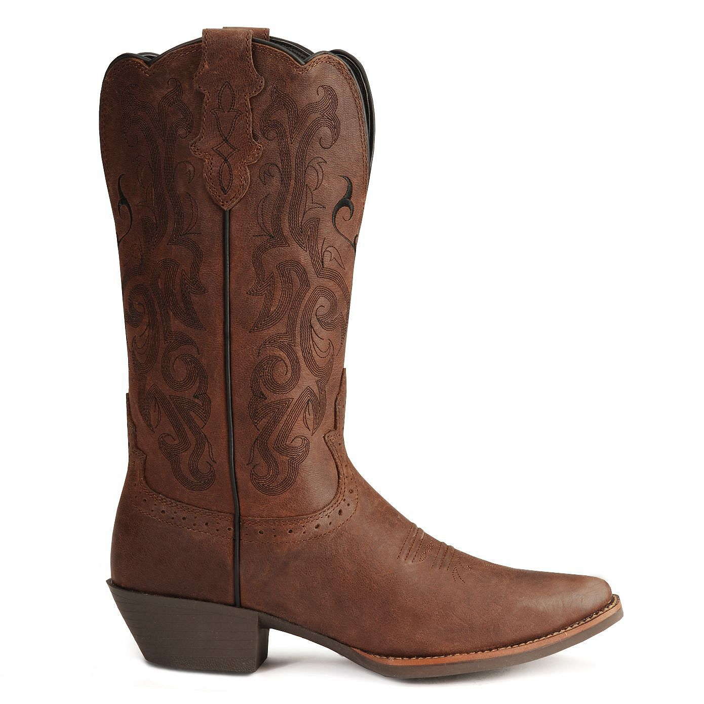 Justin Stampede Western Cowgirl Boots with Rubber Sole - Snip Toe ...