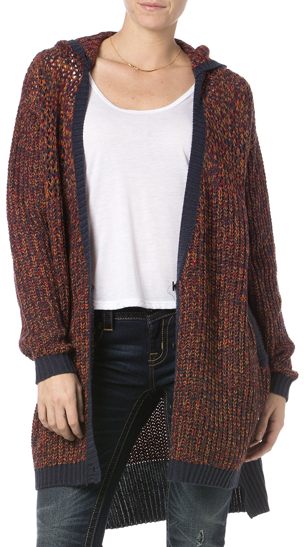 Miss Me Women's Burgundy Hooded Cardigan - Country Outfitter
