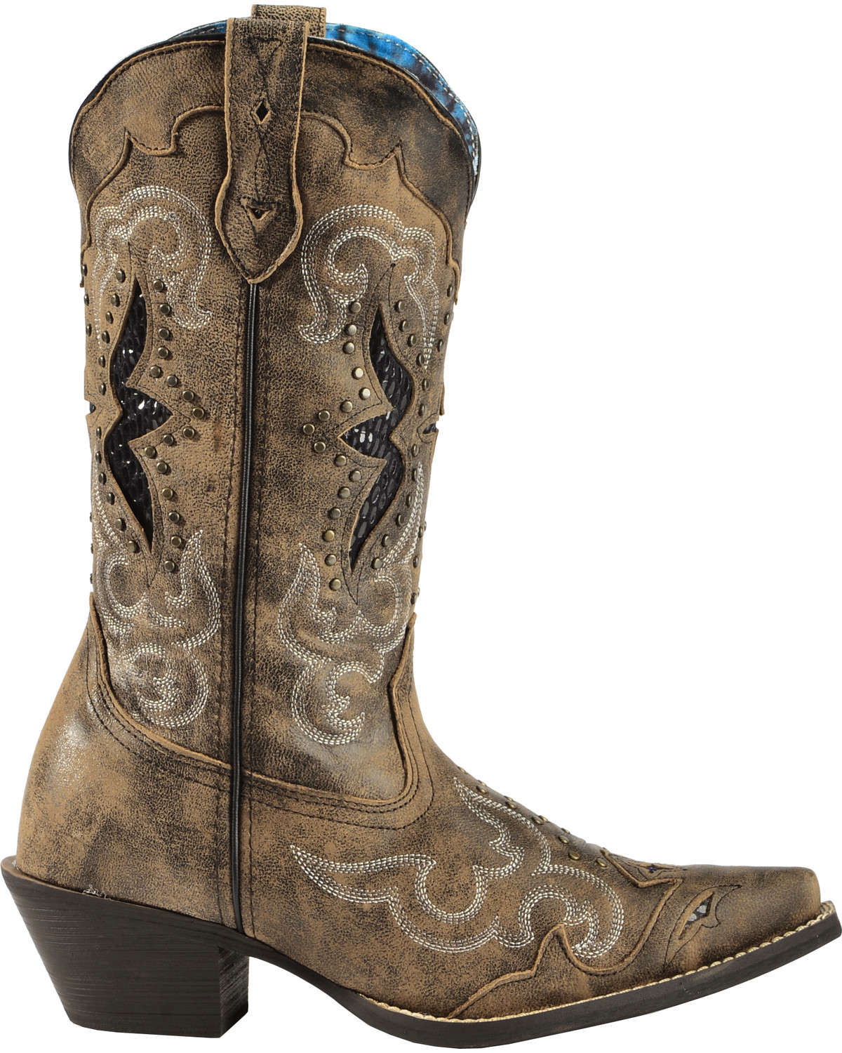 laredo women 39 s lucretia studded snake inlay cowgirl boots snip toe country outfitter. Black Bedroom Furniture Sets. Home Design Ideas