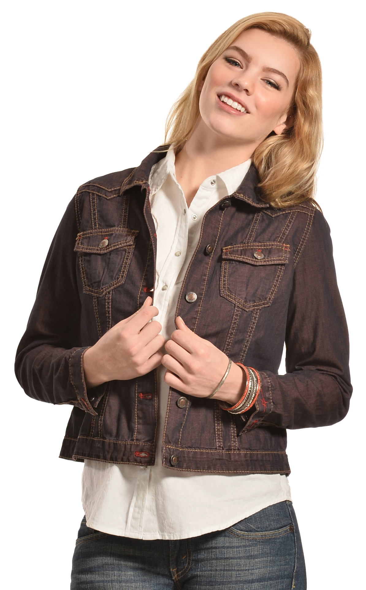 Ryan Michael Women's Color Denim Jacket - Country Outfitter