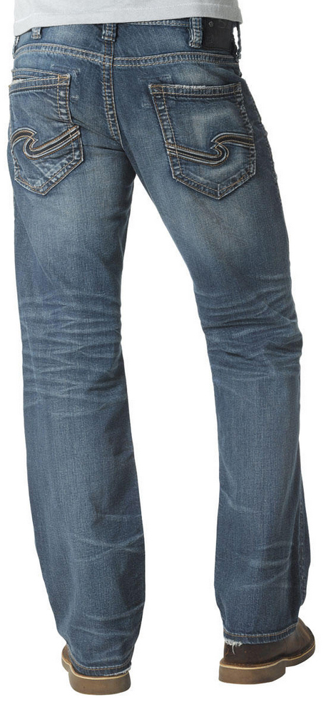 Silver Jeans Men's Zac Relaxed Fit Straight Leg Jeans - Country ...
