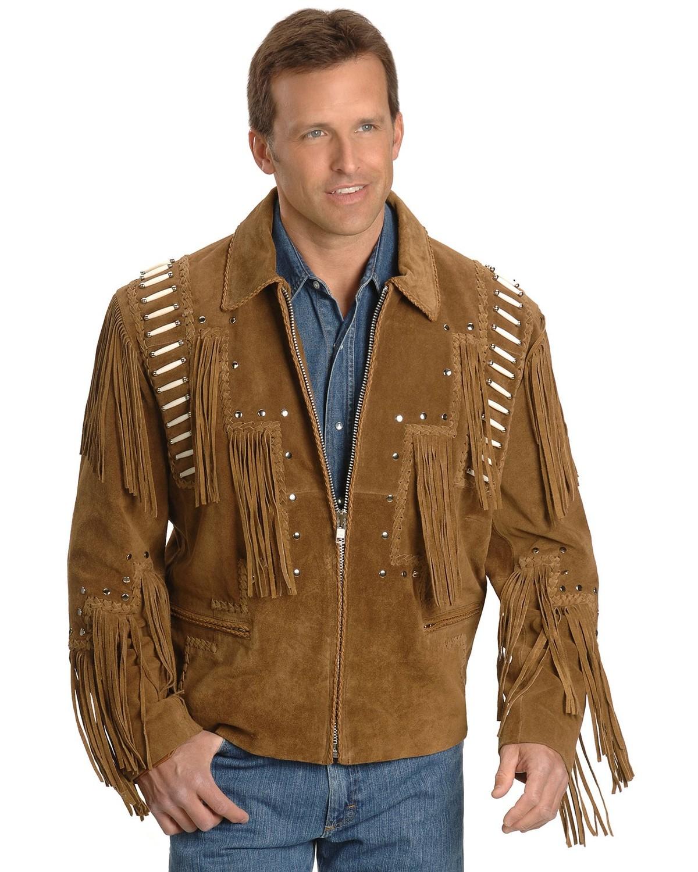Leather jacket fringe